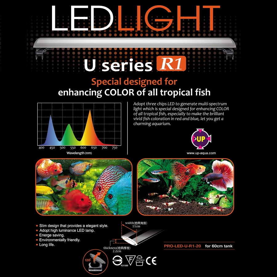 UP Aqua U Series TROPICAL LED Light (2FT)