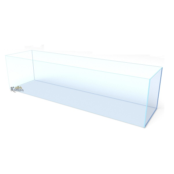 Komoda 4FT 'SkyClear' Bookshelf Frameless Tank