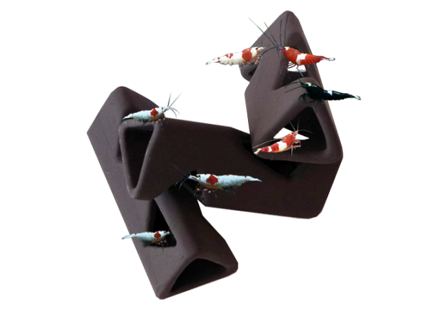 Ceramic Triangle Shrimp Shelter (3 pack)